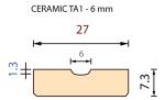 Керамическая подкладка TA1 - 6mm полуовальной формы