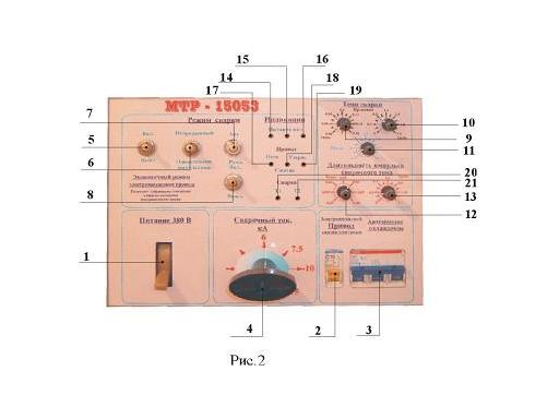 Панель Управления машины контактной точечной сварки МТР